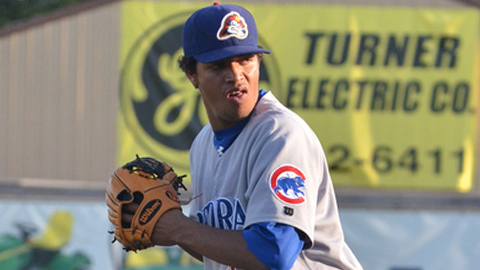 Starling Peralta faced two over the minimum for Peoria on Tuesday.